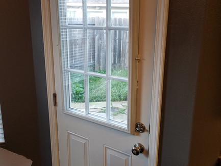 Freshly Painted Door