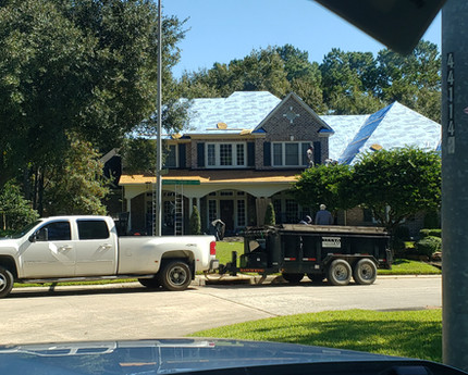 House papered and ready for shingles.