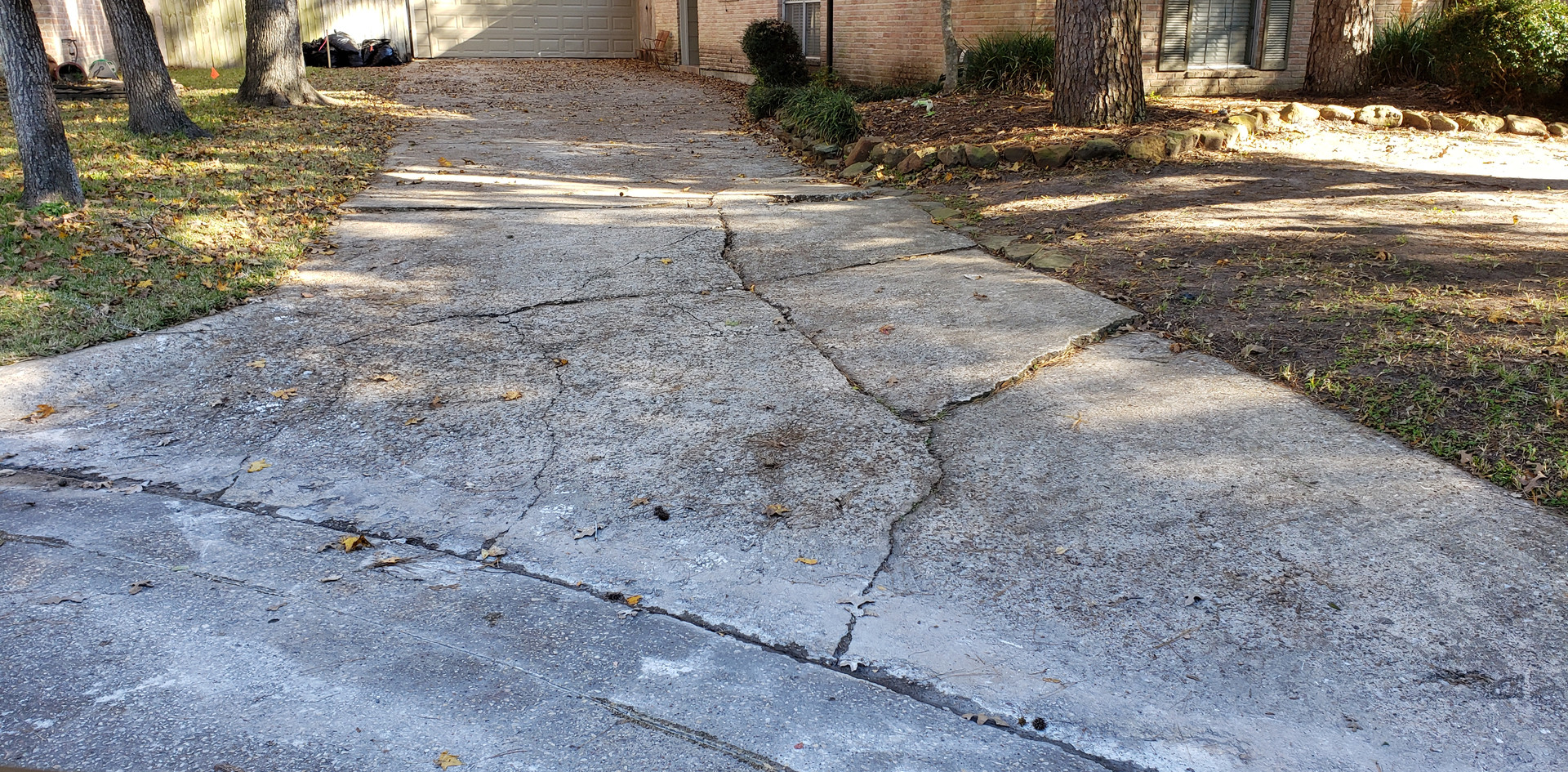 Old damaged driveway