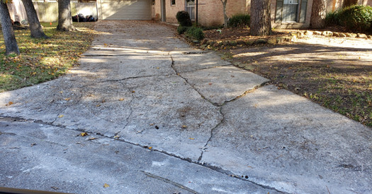 Old damaged driveway