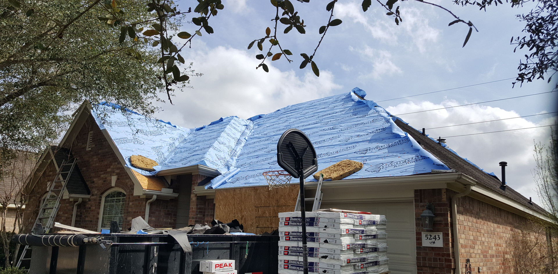 Reroof in  Sugarland in progess.