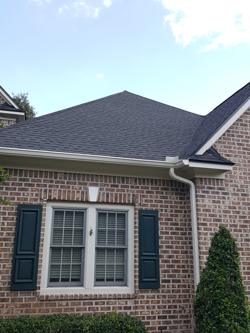 New charcoal roof.