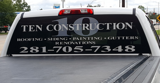 New signage on the company truck.