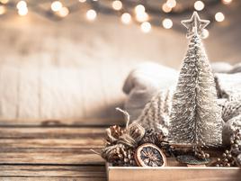 Decoración navideña para pisos pequeños