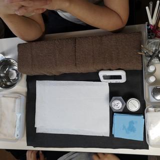 生徒さんの検定用のテーブルセッティング例