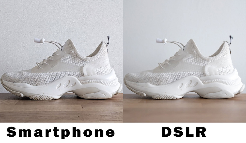 Comparison between smartphone and DSLR photos