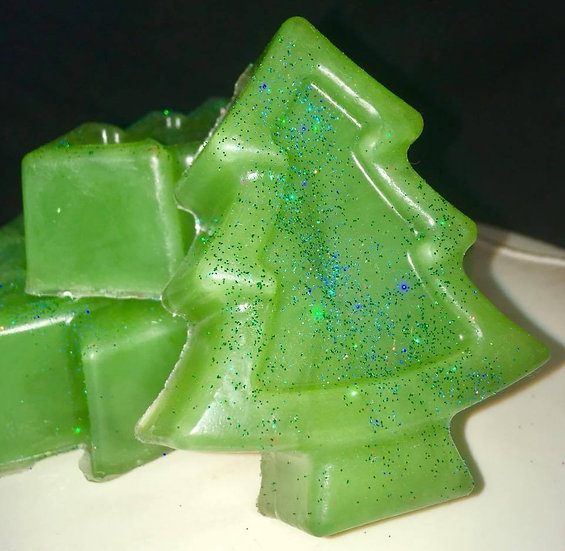 Large Christmas Tree Soaps. Pack of 6
