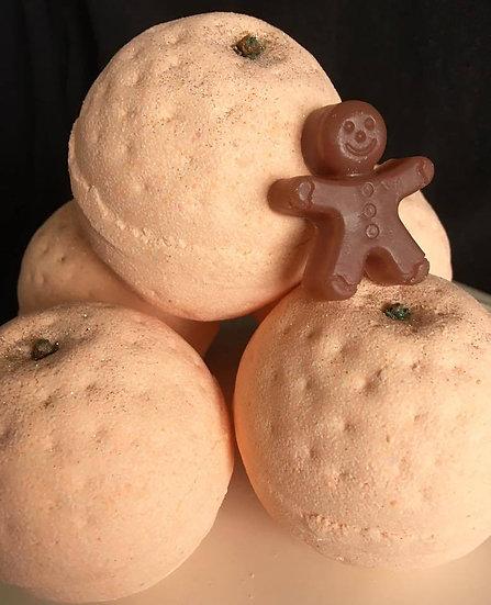 Spiced Orange, Gingerbread & Clove Bath Bomb - Pack of 6