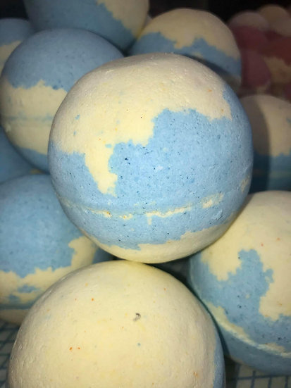 Lemon Curd & Blueberry Muffin Bath Bombs - Pack of 6