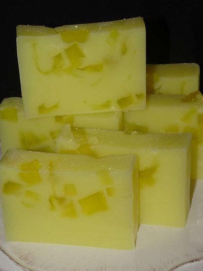 600g Handmade Soap Loaf - Lemon Curd
