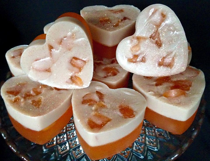 Chocolate Orange Heart Soaps - Pack of 6