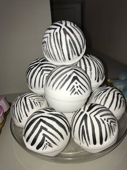 Zoe Zebra Bath Bomb - Pack of 6