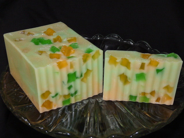 600g Handmade Soap Loaf - Mango & Lime
