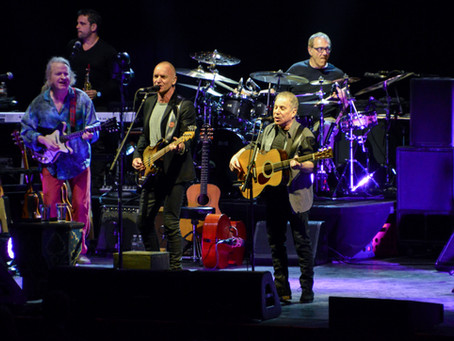 "Paul Simon And Sting Hold A ""Little Experiment"" At MSG"
