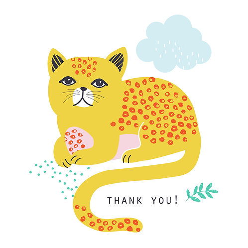 Maude the Cat thank you cards : pack of 6