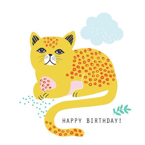Maude the Cat says Happy Birthday