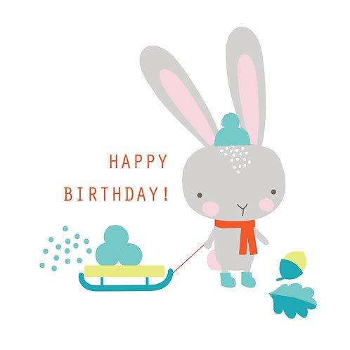 Birthday Bunny in the Snow