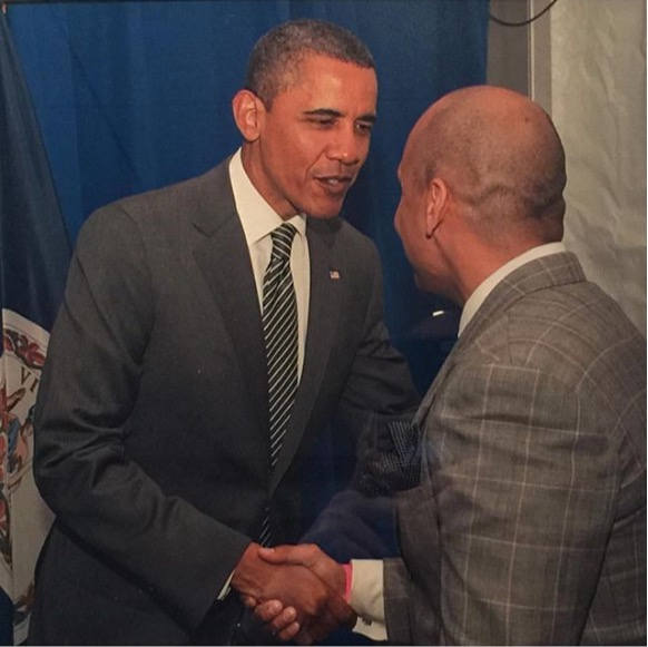 President Obama & Polo Shaking Hands