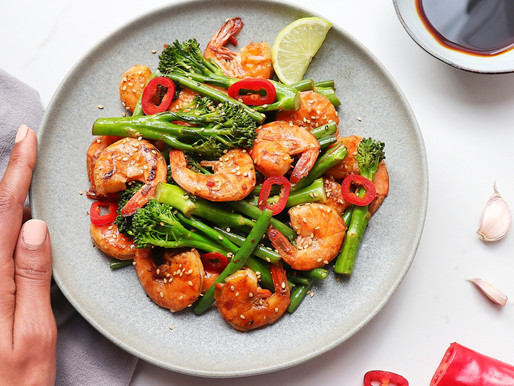 Healthy Asian Style Prawn Stir-fry