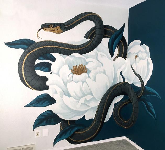 Snake & Flowers