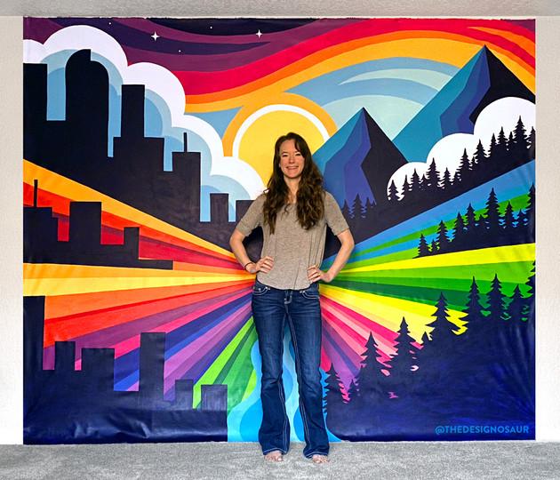Big City Mountaineers Portable Selfie Wall
