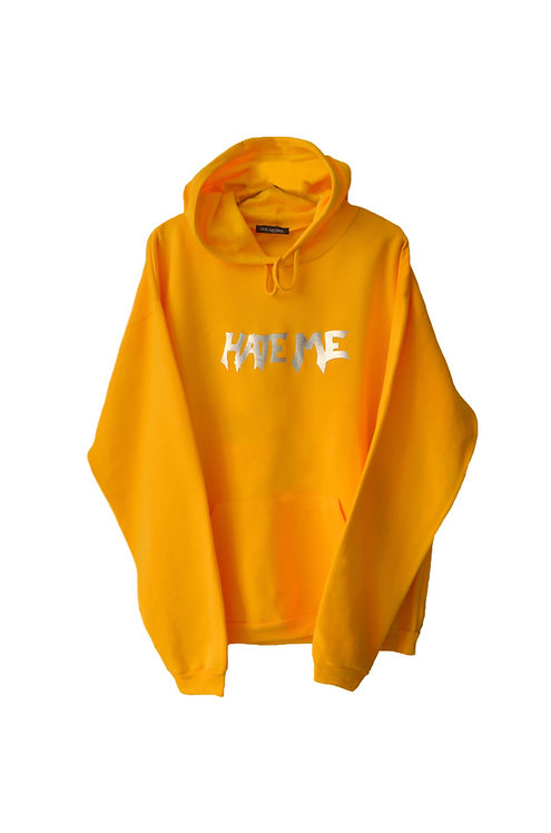 HATE ME hoodie yellow