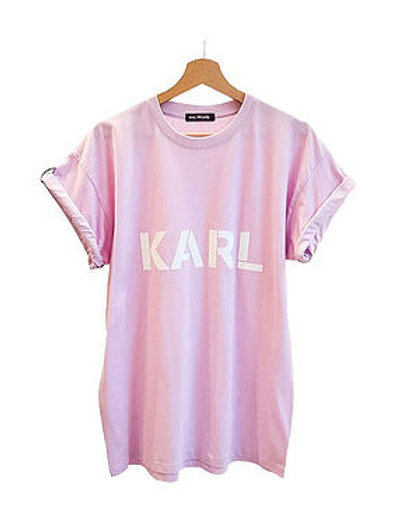 KARL T-shirt pastel rosa