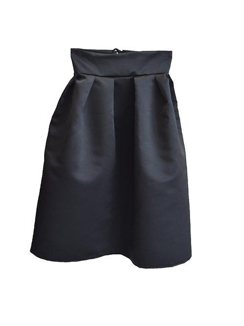 Satin skirt black (long)