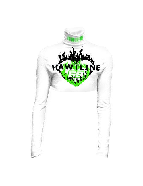 HAWTLINE 69 Crop Turtleneck white green