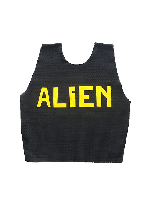 ALIEN mesh croptop black/yellow