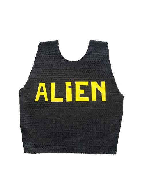 ALIEN mesh croptop black/yellow