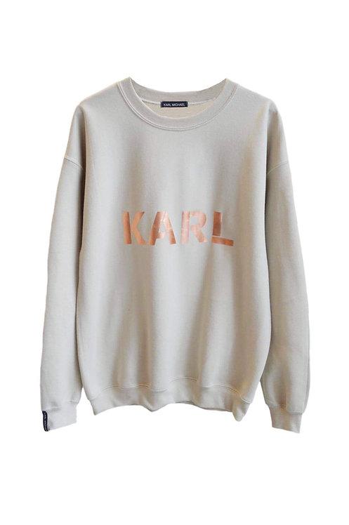 KARL sweater beige (copper print)