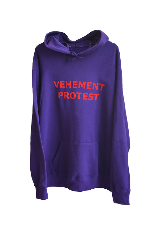 VEHEMENT PROTEST hoodie purple