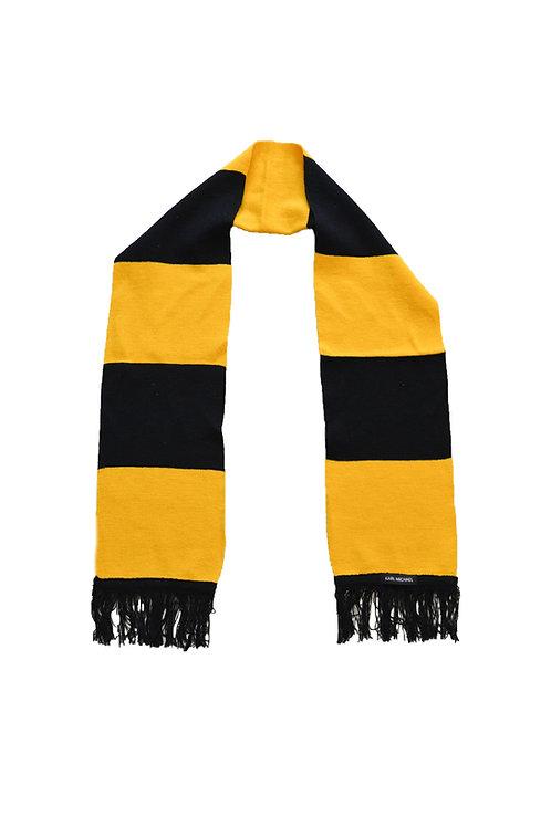 Stripes scarf B/Yellow