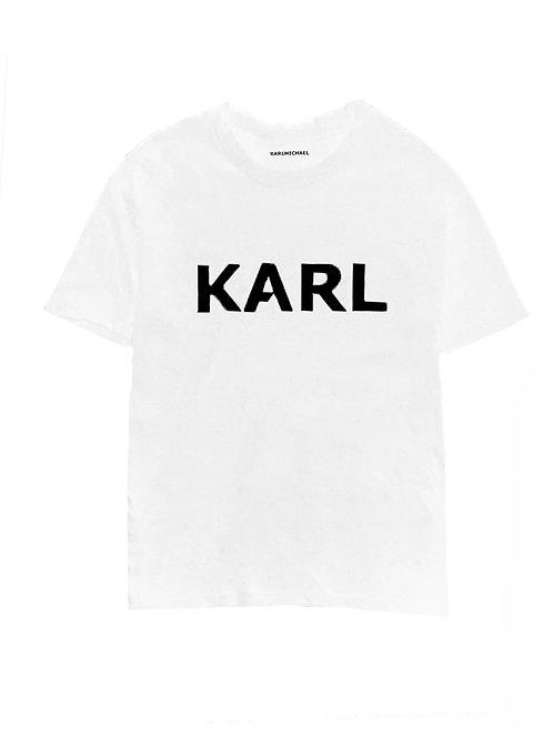new KARL T-shirt white heavy upgrade