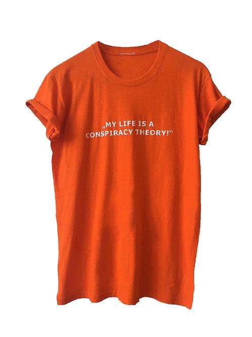 Conspiracy Theory T-Shirt orange