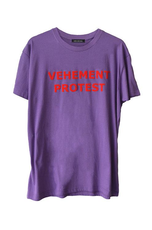 VEHEMENT PROTEST T-shirt purple