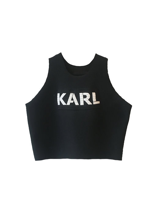 KARL croptop B/W