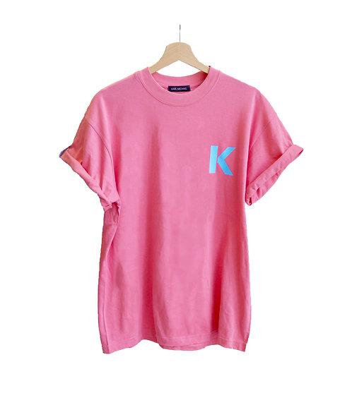 K T-shirt pastel pink