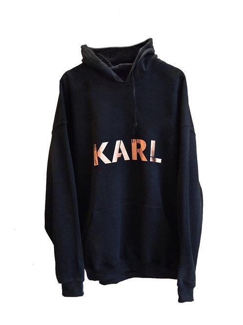 KARL hoodie black (copper print)