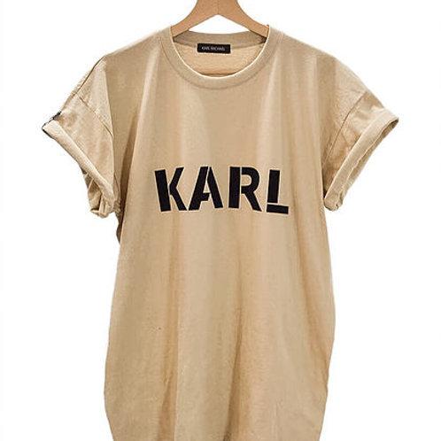 KARL T-shirt pastel beige