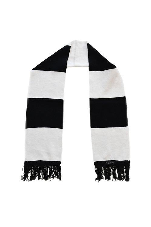 Stripes scarf B/W