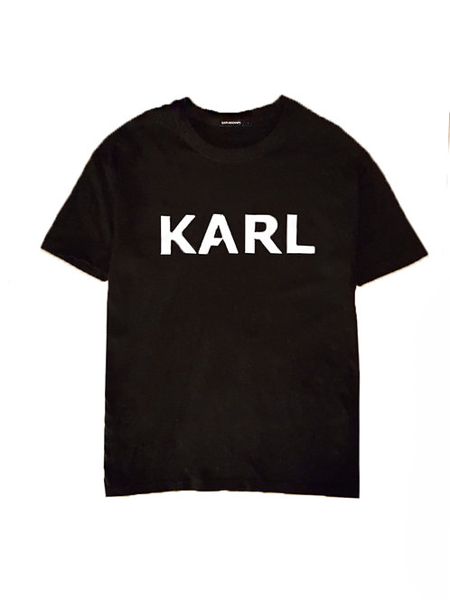 new KARL T-shirt black heavy upgrade (2 print options)