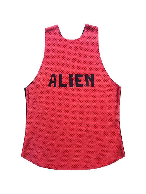 ALIEN mesh tanktop red/black