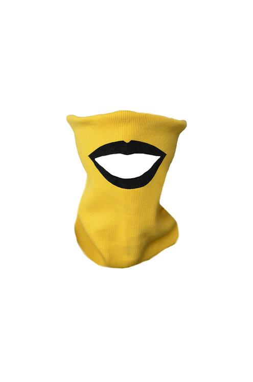 Lips mask yellow/black