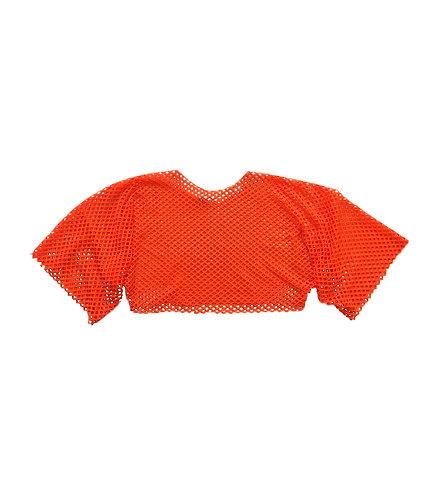 Orange Mesh rough croptop