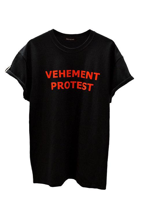 VEHEMENT PROTEST T-shirt black