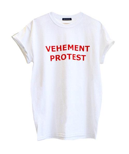 VEHEMENT PROTEST T-shirt white