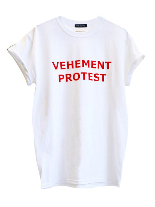 VEHEMENT PROTEST T-shirt white