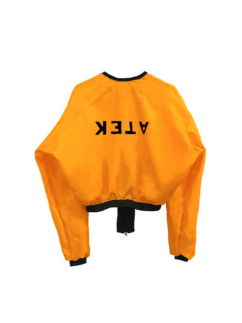 ATEK BOMBER JACKET (HIGH WAIST) orange